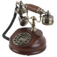 Τηλέφωνο Ρετρό Vintage Ξύλινο, Οθόνη, Αναγνώριση Κλήσης PRT35I