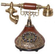Τηλέφωνο Ρετρό Vintage Ξύλινο, Οθόνη, Αναγνώριση Κλήσης PRT55I