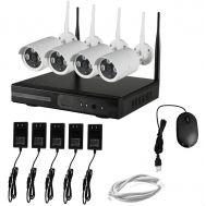 Ασύρματο σύστημα Καταγραφικό με 4 κάμερας ασφαλείας OEM HD NVR KIT