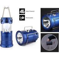 Φακός & Ηλιακή Λάμπα Camping 6 LED & Powerbank