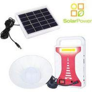Mini Ηλιακό Σύστημα Φωτισμού & Φόρτισης PowerBank με Panel, Μπαταρία & Λάμπα LED 200LM