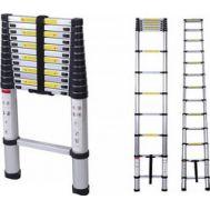 Πτυσσόμενη σκάλα 4,1 μέτρα αλουμινίου με 14 σκαλοπάτια LS1106