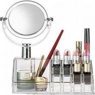 Βάση οργάνωσης καλλυντικών κοσμημάτων με Καθρέπτη Μακιγιάζ