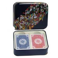 Μεταλλικό κουτί Latta 608 Modiano 2 τράπουλες πλαστικοποιημένες