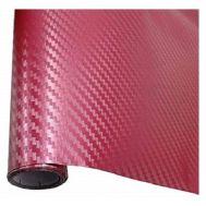 Ταινία προστατευτική Μπορντό 152 x 200 cm 3D Carbon Fiber Film W-FA