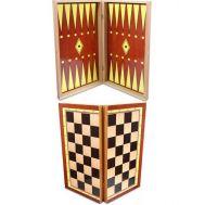 Τάβλι-Σκάκι 3σε1 Μεγάλο Φορμάικα Οξιάς 48 x 48cm Γιαννακούρας 501304