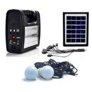 Ηλιακό Σύστημα Φωτισμού & Φόρτισης Με Panel, Μπαταρία, Φακό & 2 Λάμπες 6W KJ-018
