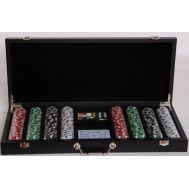 Ξύλινη βαλίτσα με 400 μάρκες καζίνου 700206