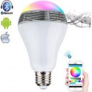 Λάμπα Bluetooth ηχείο αλλάζει χρώματα και παίζει μουσική OEM Smart LED light Bulb Speaker Color changing  HO355