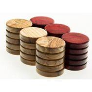 Πούλια ξύλο ελιάς μεγάλα κόκκινα PR1