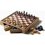 Σκάκι Ντάμα Τρίλιζα πλαστικό 26x26x4,5cm