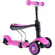 Παιδικό Πατίνι 3 σε 1 με 3 Τροχούς LED Glider Scooter Pink