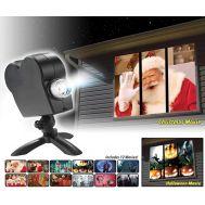 Γιορτινός Χριστουγεννιάτικος προτζέκτορας παραθύρου εσωτερικού χώρου με 12 ταινίες ΟΕΜ ON-3760