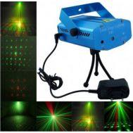 Mini ισχυρός Φωτορυθμικό Projector Laser 50mW OEM YX-6D