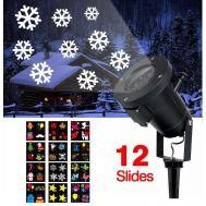 Νυχτερινός Γιορτινός Προβολέας Φωτισμός Με 48 Χριστουγεννιάτικα Θέματα σε 12 Slides Laser Projector IN2-A004