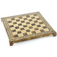 Σκακιέρα Μπρούτζινη  Μαίανδρος 28x28cm Manopoulos