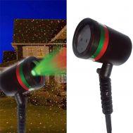 Νυχτερινός Γιορτινός Προβολέας Φωτισμός Με Πράσινους και Κόκκινους Χρωματισμούς, IP44, 5 Watt Star Shower 5800