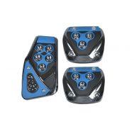 Αντιολισθητικά πεντάλ αυτοκινήτου μπλε σετ 3 τεμαχίων CG-1001