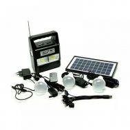 Ηλιακό Σύστημα Φωτισμού & Φόρτισης Με Panel, Μπαταρία, Φακό & 3 Λάμπες LED GD-8216