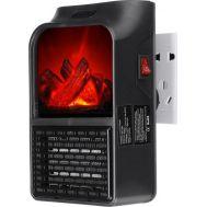 Μίνι Σόμπα Αερόθερμο Πρίζας Με Εφέ Τζάκι 900 Watt με Τηλεχειριστήριο Flame Heater DP-198