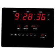Ρολόι LED με ένδειξη Ημέρας, Ημερομηνίας, Ώρας & Θερμοκρασίας 23x16x2,2cm OEM LED Number Clock 2318
