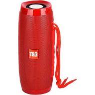 Φορητό Ασύρματο Ηχοσύστημα Bluetooth Με LED Φωτισμό & FM Ραδιόφωνο Κόκκινο Ηχείο Multimedia Player Radio T&G TG-157