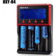 Φορτιστής Επαναφορτιζόμενων Μπαταριών NiCD/NiMH, Li-ion/LiFe Τύπου ΑΑ-ΑΑΑ-C με LCD Οθόνη HXY-H4