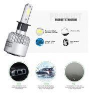 Φώτα Αυτοκινήτου LED COB H3 – 72W / 6000K 8000LM AUXMART