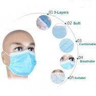 Μάσκα τριών φύλλων για την προστασία του αναπνευστικού συστήματος 3 τμχ KopiLova