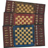 Μεταλικό σετ σκακιού σε ξύλινη κασετίνα 28χ28 cm