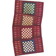 Μεταλικό σετ σκακιού σε κουτί με διάφανο καπάκι 15χ15 cm