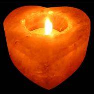 Κηροπήγιο Καρδιά από Ορυκτό Αλάτι Ιμαλαίων