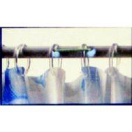 Κρίκοι κουρτίνας μπάνιου διαφανείς (12) τεμάχια BORAX