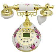 Τηλέφωνο Ρετρό Vintage Μαρμάρινο, Οθόνη, Αναγνώριση Κλήσης PRT9101