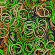 Καμουφλάζ λαστιχάκια για τον αργαλειό Rainbow Loom