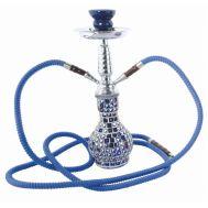 Ναργιλές Διπλός Μπλε με κρύσταλλα 38cm CHAPM AL MALIK Khouribga Cristal