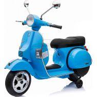Παιδική ηλεκτρική Vespa Piaggio Vintage Original 12V Μπλέ Skorpion Wheels 5245050