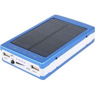 Power bank με ηλιακό φορτιστή και φακός 20 Led Solar 20000mAh Μπλε Eboot ES20000