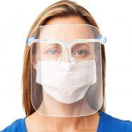 Μάσκα ασπίδα προστασίας προσώπου με πλαστικό σκελετό γυαλιών Full Face Glasses Shield