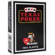 Τράπουλα πλαστική σκούρο μαύρη Modiano Texas Poker