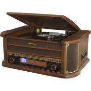 Πικάπ vintage ξύλινο HiFi με Ράδιο-CD-USB-CASSETTE Roadstar HIF 1993BT BT