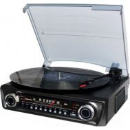 Vintage Πικάπ Player με ενσωματωμένα ηχεία ραδιόφωνο,usb και bluetooth ROADSTAR TTR-9645 EBT