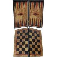 Τάβλι-Σκάκι δίχρωμο οξιά με εκτύπωση ελιά 48Χ26cm SuperGifts 501801