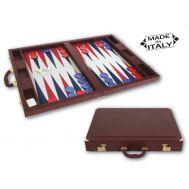 Τάβλι πολυτελείας δερμάτινη βαλίτσα Dal Negro Red  51,5 x 51,5 c