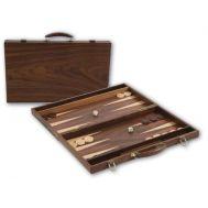 Τάβλι πολυτελείας σε βαλίτσα από ξύλο καρυδιάς 49x49cm