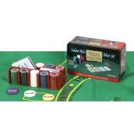 Μεταλλικό κουτί Texas Hold'em Σετ Poker