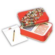 Μεταλλικό κουτί Latta 607 Modiano 2 τράπουλες πλαστικοποιημένες