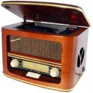 Πικάπ vintage με Ράδιο-CD-MP3-WMA Player Roadstar 1500MP