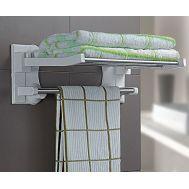 Αναδιπλούμενο ράφι πετσετών με βεντούζες