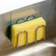 Ανοξείδωτη αυτοκόλλητη βάση για σφουγγάρι κουζίνας
